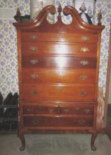 Early 20th c Maple Highboy