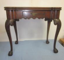 18th c Philadelphia Mahogany Chippendale Game Table, cir 1750-1780