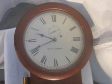 19th c Seth Thomas Walnut Long Clock