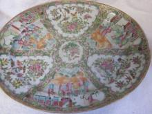 19th c Oriental Rose Medallion Platter