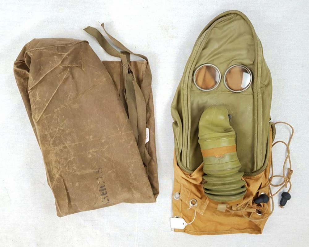Ultra Rare 1941 Dated Hospital Gas Mask for patients with facial injuries and unable to wear a standard mask.