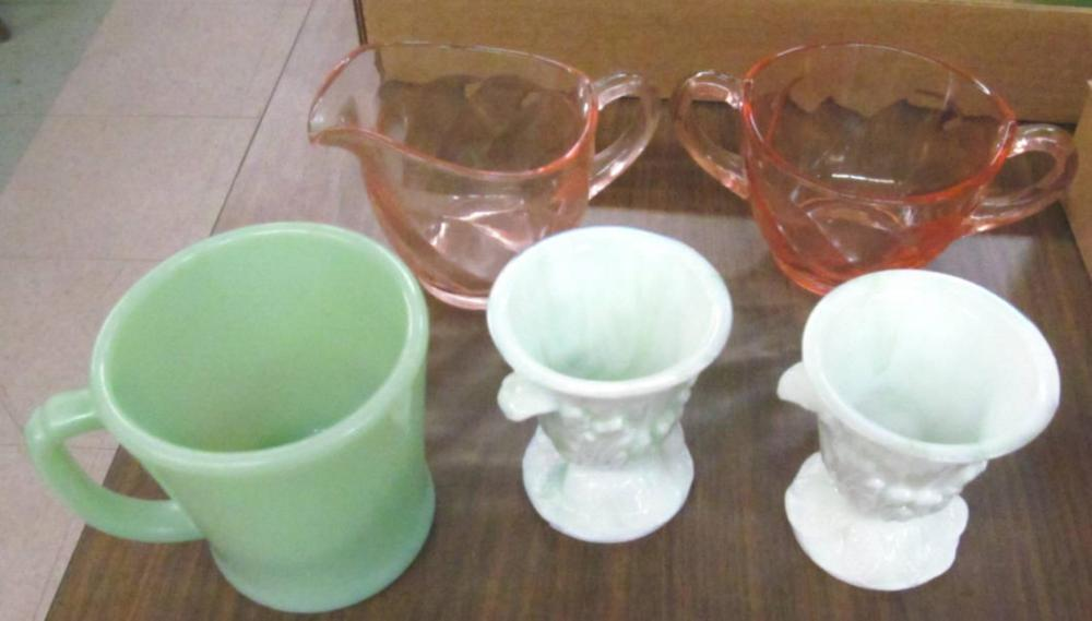 Pink Cream,Sugar&2Green&White Soft Boiled Egg Cups