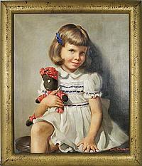 """Louise Vandenbergh Altson (1910-2010) Portrait 24""""x"""