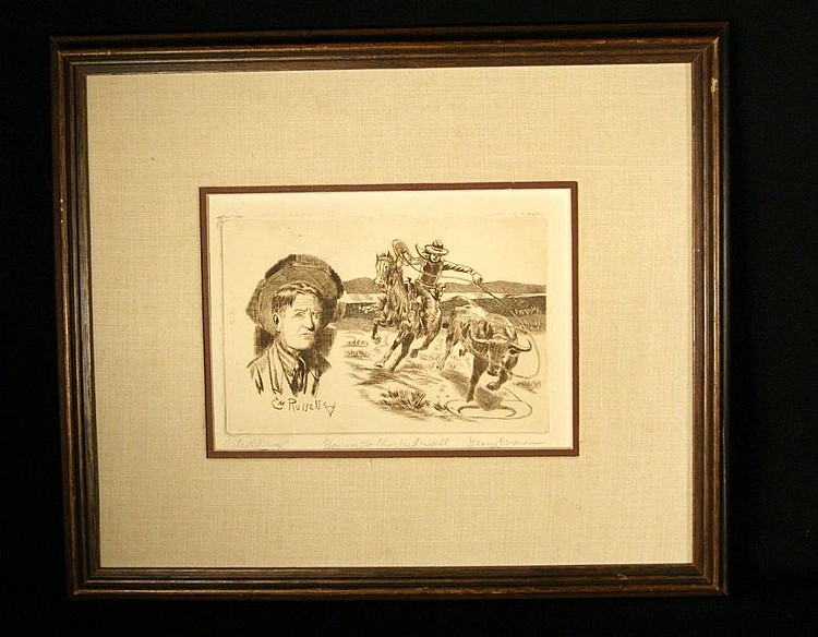 George Crionas (1925-2004) Etching- Russel - A.P. Artist Proofsize: 9