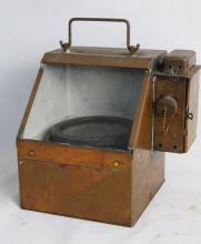 Antique Brass Binnacle Compass with Kerosene light