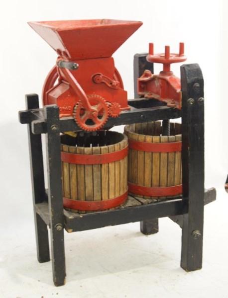 Antique wine cider press ca 1930 39 s for Home wine press