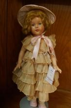 Vintage Effanbee composition doll w/ ruffled dress