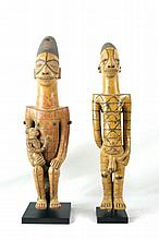 Pair of  African Art Ceramic Figures ~ Mogletou