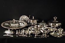 Silver Plate Serving Plates and Pieces 44 +pieces