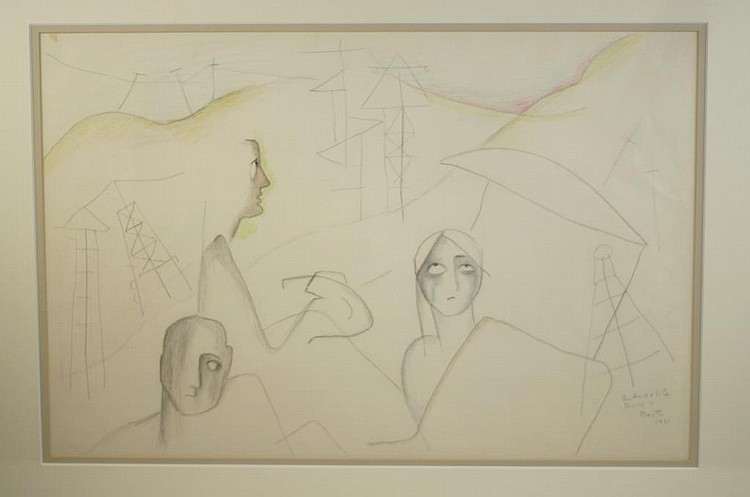 Beatrice Wood (1893-1998) Drawing Beatrice Wood Drawings