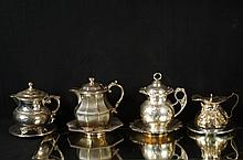 Antique silver plate creamers/ tea pots ~ 5