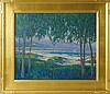 William Dorsey oil on canvas landscape, William Dorsey, Click for value