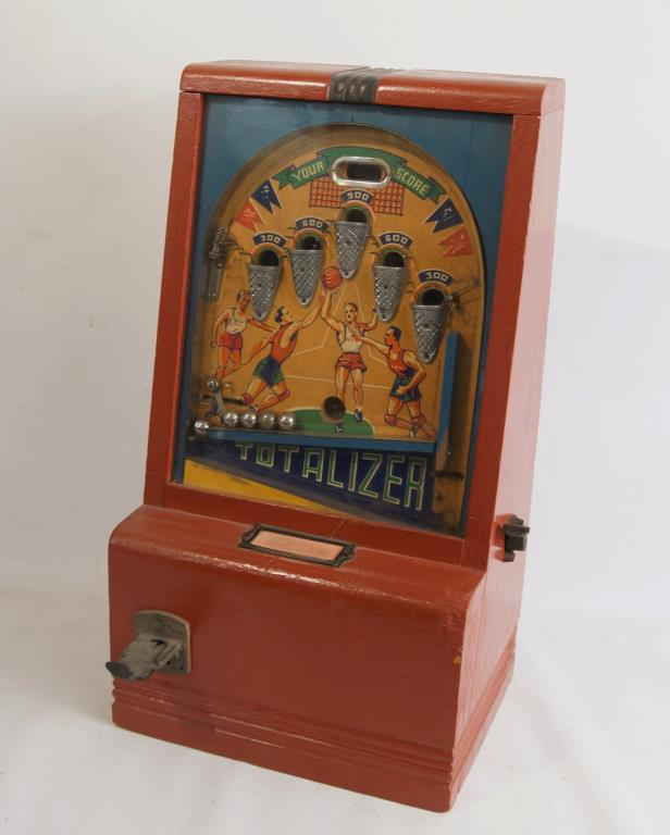 Toys R Us Slot Machines : Vintage c coin op basketball totalizer game