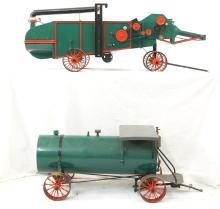 Thrasher & water wagon - Live steam cars