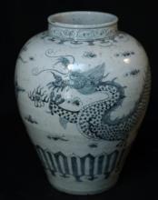Korean Blue/White porcelain wine jar
