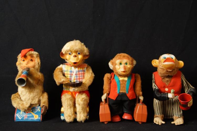 Vintage Japan batt-op. toy Monkeys - Bubble,