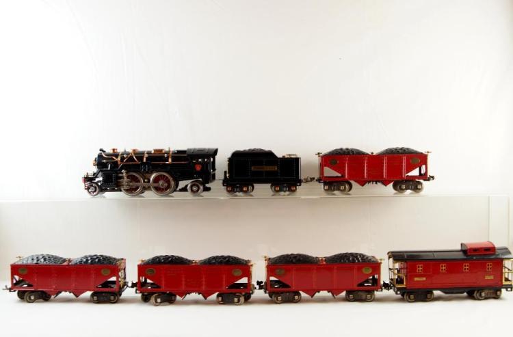 Lionel 385E 2-4-2 standard 1030 w Cars