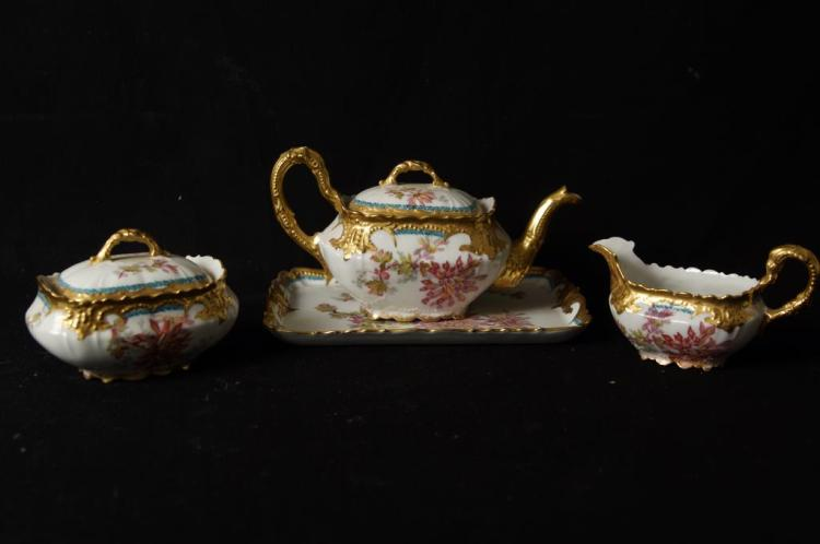Limoges tea set with tray