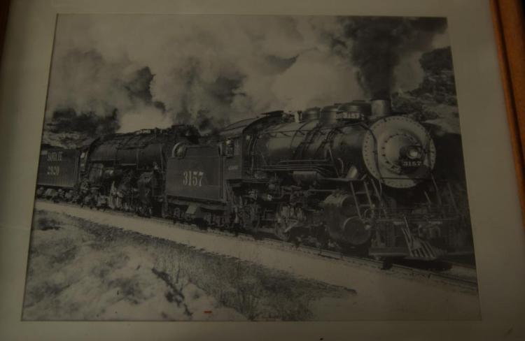 Collection of vintage train photos & memorabilia