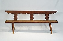 Antique early American pine bench