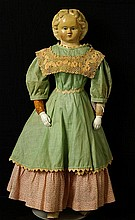 Ludwig Griener paper mache ca 1855 American doll
