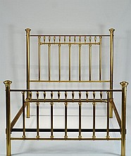 Antique American Brass Bed circa 1880