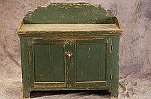 Early American wash stand -  painted green
