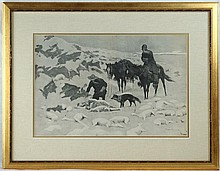F. Remington  Harper's Weekly engraving