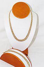 Outstanding Milor Italy 14kt Necklace & bracelet