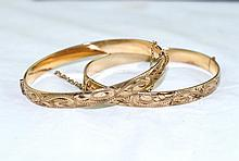 14kt Bangle matching bracelets - 2
