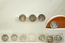 Eleven  1-Troy oz. .999 1972 silver coins