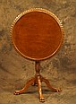 Antique tilt top table with claw feet