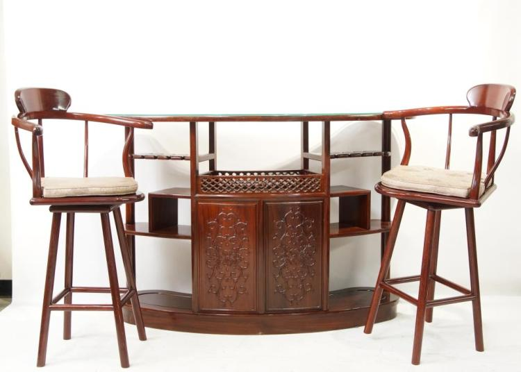 Chinese rosewood bar barstools for Asian furniture emeryville ca