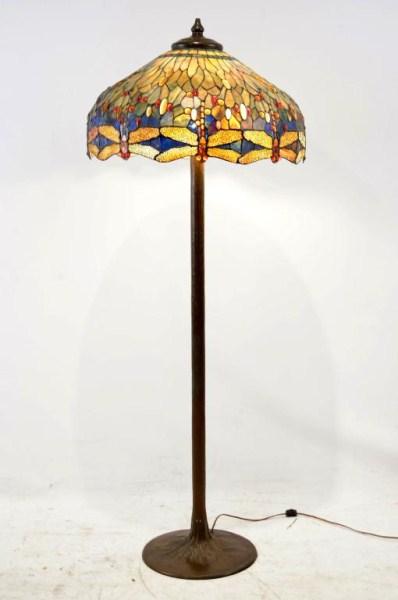 large tiffany style dragonfly 3 light floor lamp. Black Bedroom Furniture Sets. Home Design Ideas