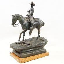 Jack Swanson (1927-2014) Cowboy Bronze Sculpture
