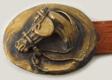 Jack Swanson (1927-2014) Cast Bronze Belt Buckle