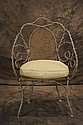 19th c French wire & wrought iron arm chair