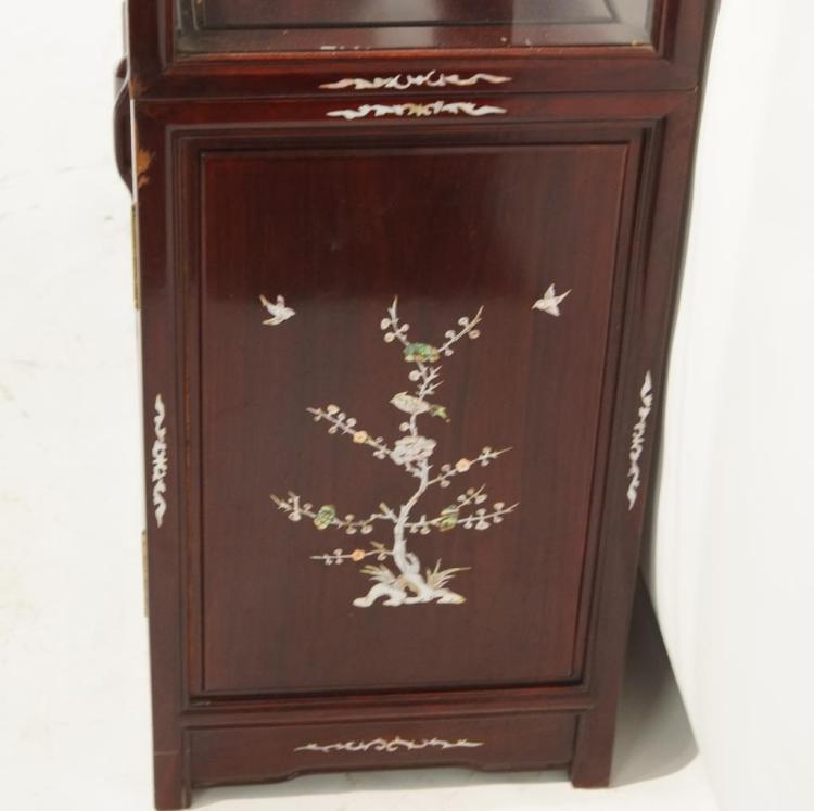 Chinese china cabinet w mother of pearl for Asian furniture emeryville ca