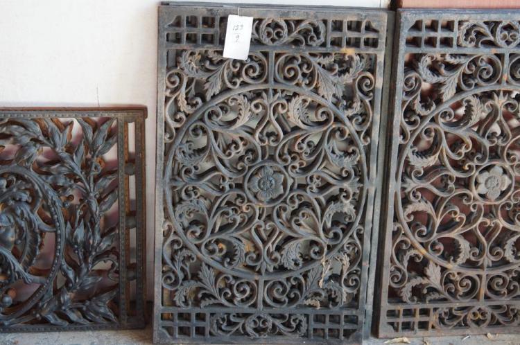 9 Cast Iron Decorative Garden Panels
