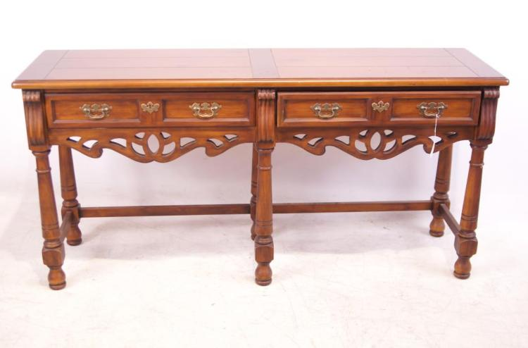 Drexel Mahogany Library Table - 2 Drawer
