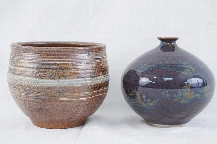 Two Vivika & Otto Heino High Fire Glaze Bowls