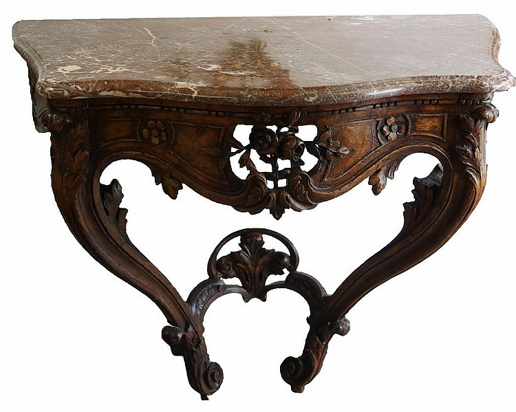 18th/19th cent. French Marble top console