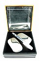 Sterling silver 3 pcs brush & comb set in orig box