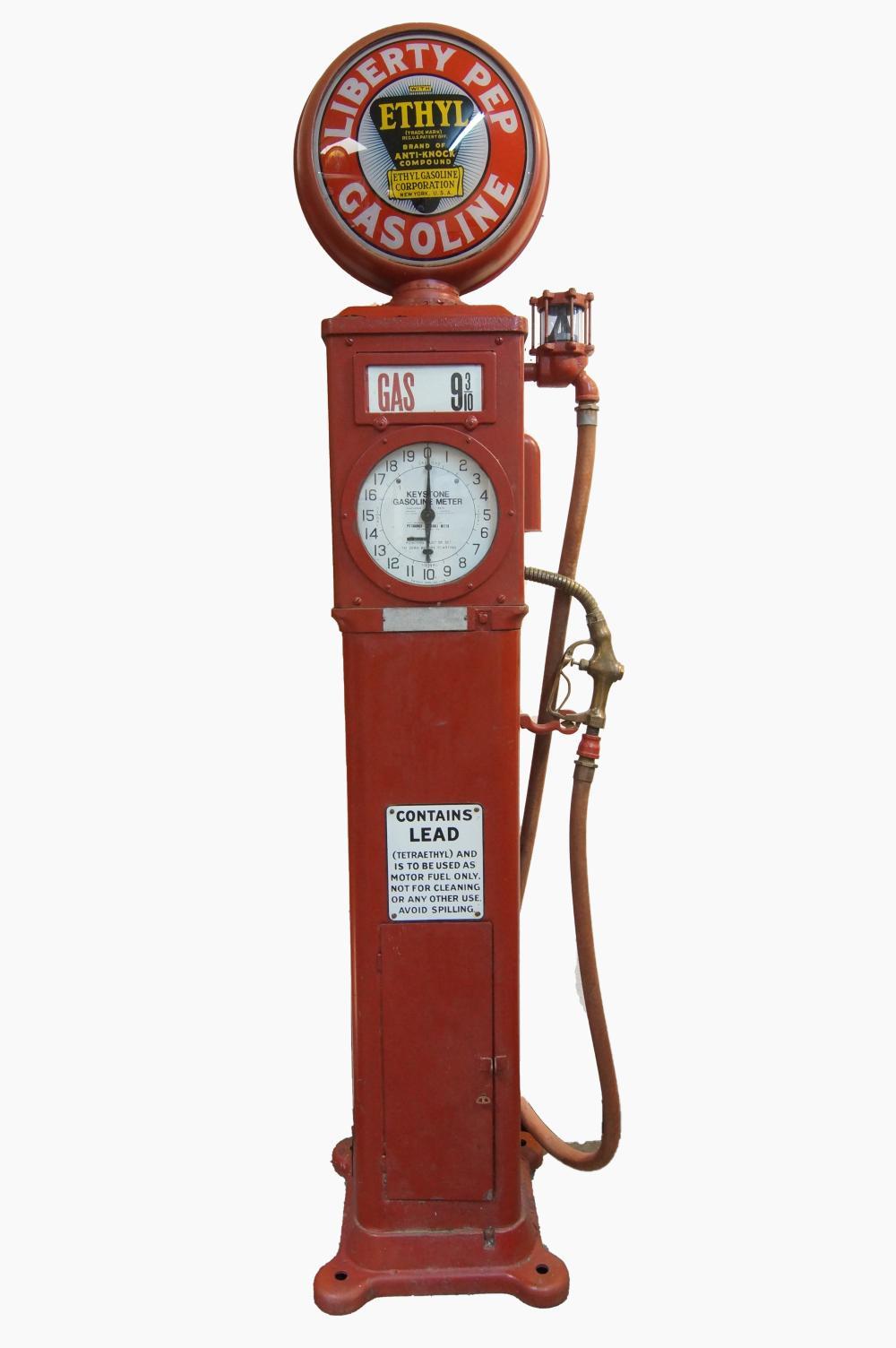 Bowser X-Acto Sentry Clock Face Gas Pump