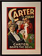 Vintage 'Carter Beats the Devil' poker poster