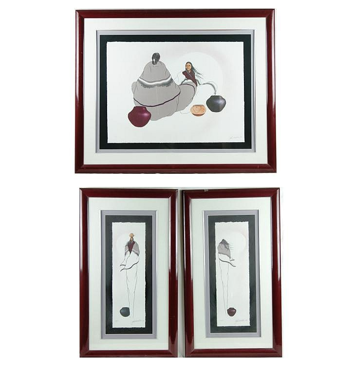 John White limited edition lithographic suite of 3