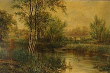 Robert Heard Whale (1857-1906) oil Landscape