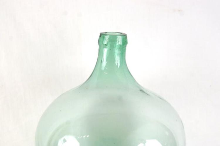 French Syrah Wine Hand Blown Art Glass Bottle