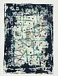 BIRO, Antal (1907-1990). Composition bleu Gouache, Antal Biró, Click for value
