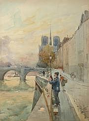 LEVERD, René (1872-1938). Quai de Béthune